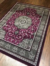 Modern Rug Approx 7x5 150x210cm Woven Design Top Quality Purple/Grey Stunning